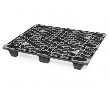 SKIDS-100 - Top view of nestable, extremely light weight plastic pallet