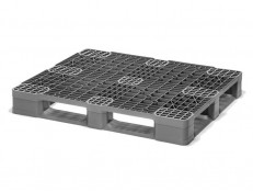 SKIDS-R Eco i5 - Top view of our high performance,  low cost plastic pallet that acceptis dynamic loads up to 3300 lbs and racking loads of 2200 lbs. Weighs in at only 33lbs!
